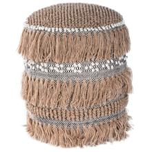 See Details - Create your perfect space with the addition of this tasseled Pouf! The comfy, bohemian vibe lends casual glamour to any space. This round, cream toned Pouf is adorned with the perfect amount of tassels. Perfect for use in a living room, entryway, bedroom or dorm room.