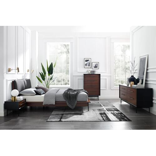 Product Image - Park Avenue Cal King Platform Bed with Fabric, Ruby