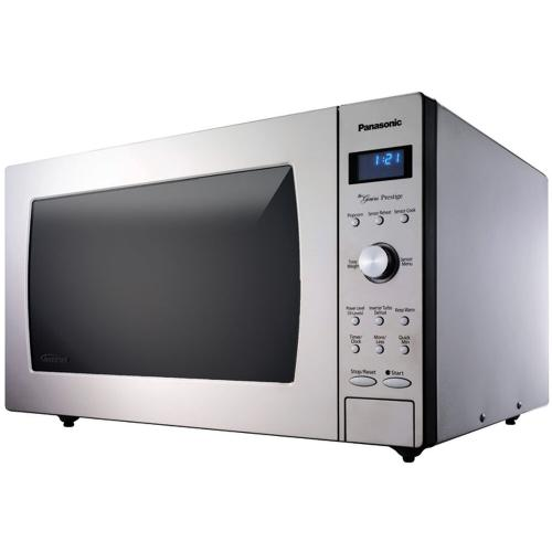 Panasonic - Luxury-Full Size 2.2 Cu. Ft. Genius Prestige Countertop/Built-In Microwave Oven with Inverter Technology, Stainless NN-SD987SB