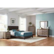 Boyd Upholstered Brown Full Bed