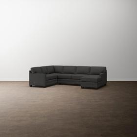 Charcoal Aiden U-Shaped Sectional