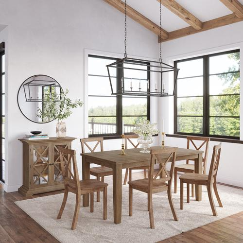 Jofran - Eastern Tides Ext Dining Table W/(6) X Back Chairs