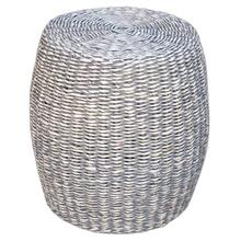 Lanai Round Abaca Stool-grey Wash