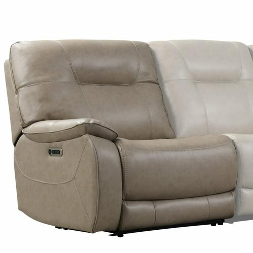 See Details - AXEL - PARCHMENT Power Left Arm Facing Recliner