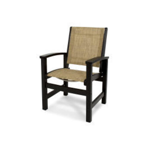 Polywood Furnishings - Coastal Dining Chair in Black / Burlap Sling