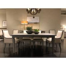 """View Product - Willow 72"""" Rectangular Dining Table - Pewter"""
