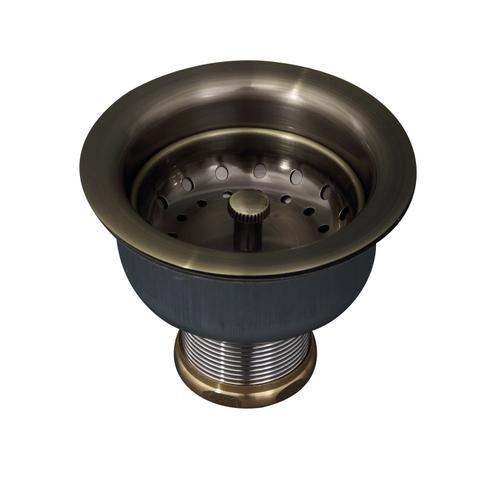 Kitchen Drain - Antique Brass