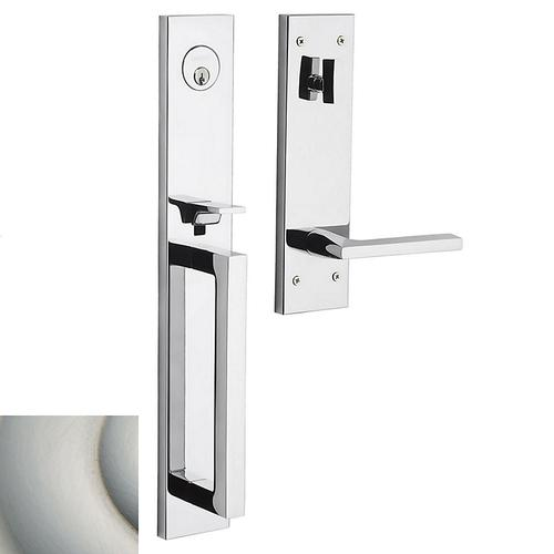 Satin Nickel with Lifetime Finish Minneapolis Full Escutcheon Handleset
