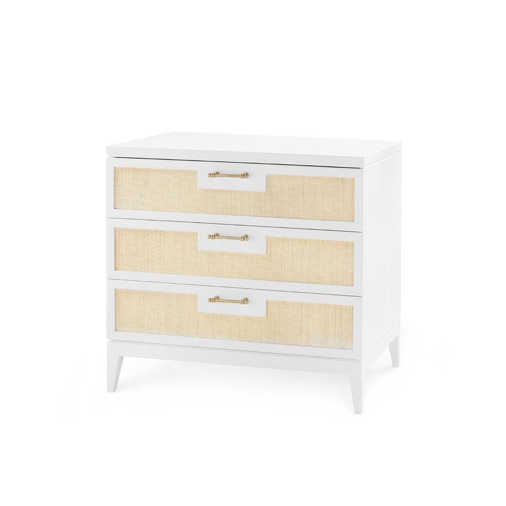 See Details - Astor 3-Drawer Side Table, White