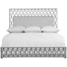 King-Sized Cancello Upholstered Metal Bed