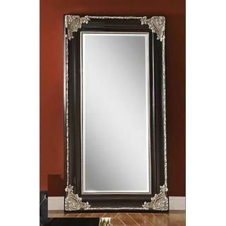 ACME Karol Accent Mirror (Floor) - 97111 - Silver & Black
