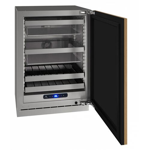 "Hbv524 24"" Beverage Center With Integrated Solid Finish and Field Reversible Door Swing (115 V/60 Hz Volts /60 Hz Hz)"