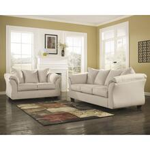 See Details - Signature Design by Ashley Darcy Living Room Set in Stone Microfiber