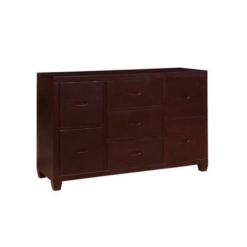 Danville Cappuccino Seven-drawer Dresser