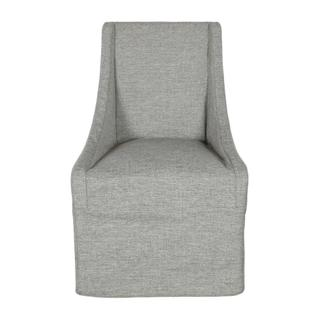 Warwick Upholstered Rolling Dining Chair Granite