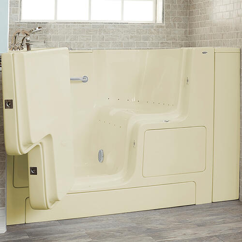 Gelcoat Premium Series 32x52 Walk-in Tub with Air Spa and Outward Opening Door, Left Drain  American Standard - Linen