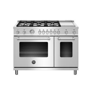 Bertazzoni48 inch All Gas Range, 6 Burner and Griddle Stainless Steel