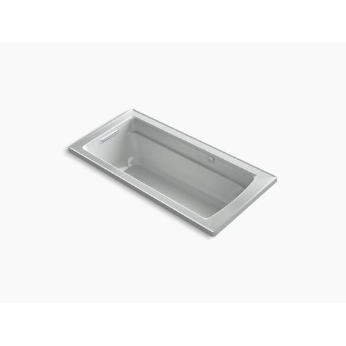 "Ice Grey 66"" X 32"" Drop-in Heated Bubblemassage Air Bath"
