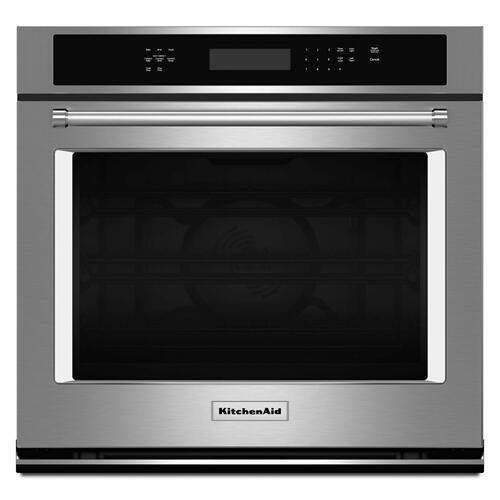 """KitchenAid Canada - 30"""" Single Wall Oven with Even-Heat™ True Convection - Stainless Steel"""