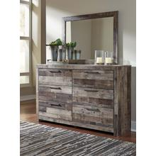 Derekson Bedroom Mirror Multi Gray