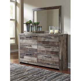 Derekson Bedroom Mirror Multi Gray
