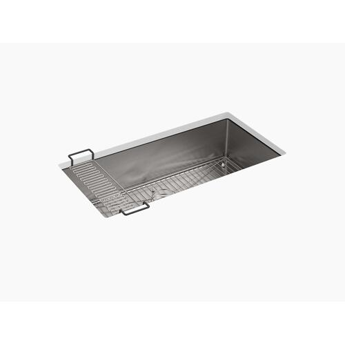 "35"" X 18-5/16"" X 9-5/16"" Undermount Single-bowl Extra-large Kitchen Sink With Rack"