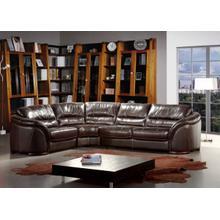 Divani Casa 262ANG Dark Brown Leather Sectional Sofa