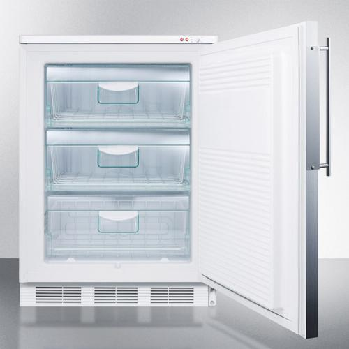 Built-in Undercounter Mecial All-freezer Capable of -25 C Operation; White Exterior With Stainless Steel Door Frame To Accept Custom Panels