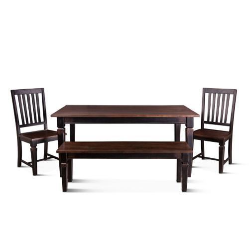 """Antibes 66"""" - 102"""" Extension Dining Table Dark Walnut"""