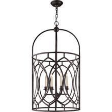 View Product - E. F. Chapman Marquise 6 Light 21 inch Aged Iron Foyer Pendant Ceiling Light