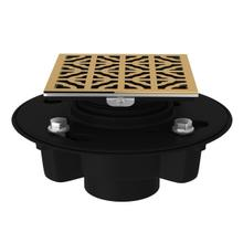 """Italian Brass Abs 2"""" X 3"""" Drain Kit With 3146 Petal Decorative Cover"""