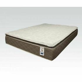 "ACME Silver Eastern King Mattress - 29134 - 12"" Pillow Top"