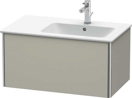 Vanity Unit Wall-mounted, Taupe Satin Matte (lacquer)