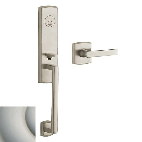 Satin Nickel with Lifetime Finish Soho 3/4 Escutcheon Handleset