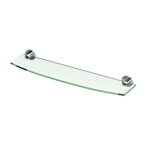 Channel Glass Shelf in Chrome