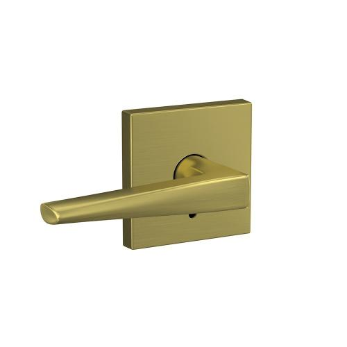 Custom Eller Lever with Collins Trim Hall-Closet and Bed-Bath Lock - Satin Brass