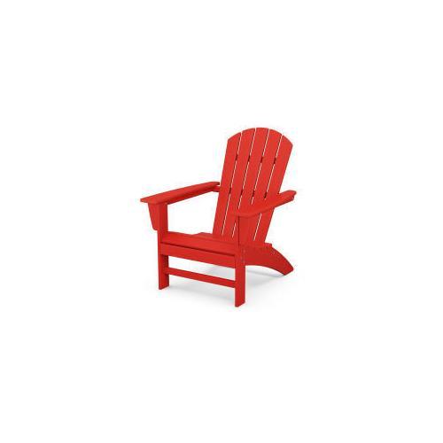Nautical Adirondack Chair in Sunset Red