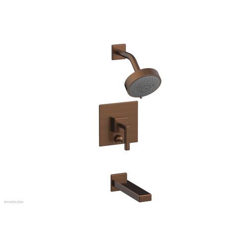 MIX Pressure Balance Tub and Shower Set - Lever Handle 290-27 - Antique Copper