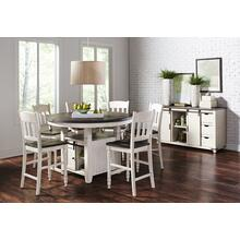 Madison County Round Table & 6 Stools Vintage White