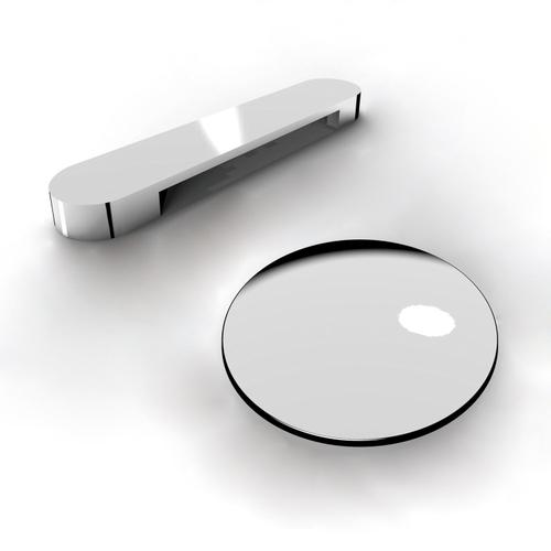 """Yarborough 61"""" Round Acrylic Tub with Integral Drain and Overflow - Polished Chrome Drain and Overflow"""