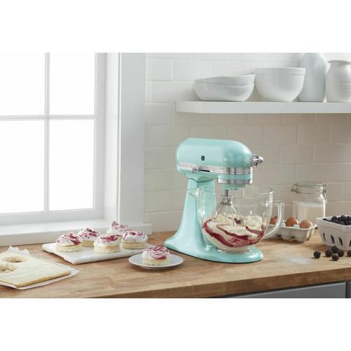 Gallery - Artisan® Design Series 5 Quart Tilt-Head Stand Mixer with Glass Bowl - Azure Blue