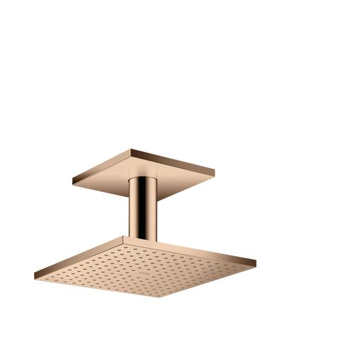 Polished Red Gold Overhead shower 250/250 2jet with ceiling connection