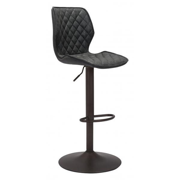 See Details - Seth Bar Chair Vintage Black