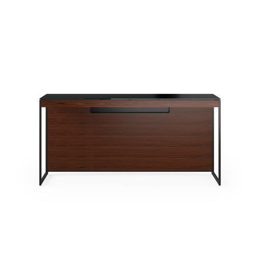 BDI Furniture - Sequel 20 6102 Console/Laptop Desk in Chocolate Walnut Black