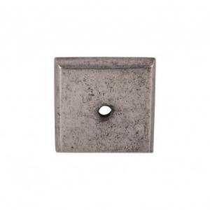 Aspen Square Backplate 1 1/4 Inch - Silicon Bronze Light