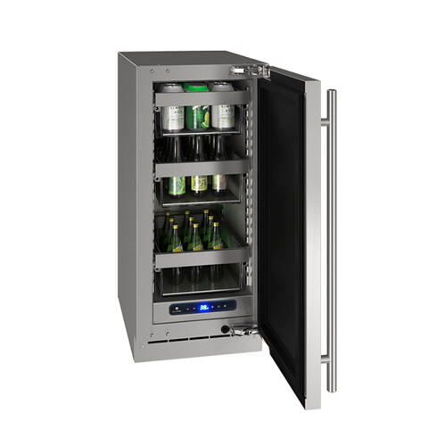 "Hre515 15"" Refrigerator With Stainless Solid Finish (115 V/60 Hz Volts /60 Hz Hz)"