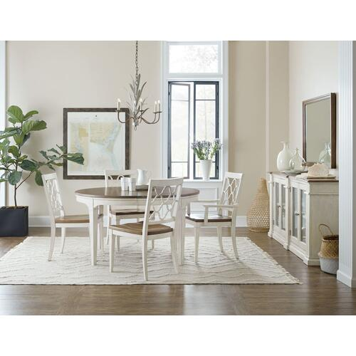 Dining Room Montebello Wood Seat Side Chair