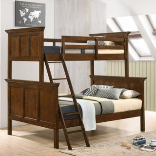San Mateo Youth Twin over Full Bunk Bed  Tuscan