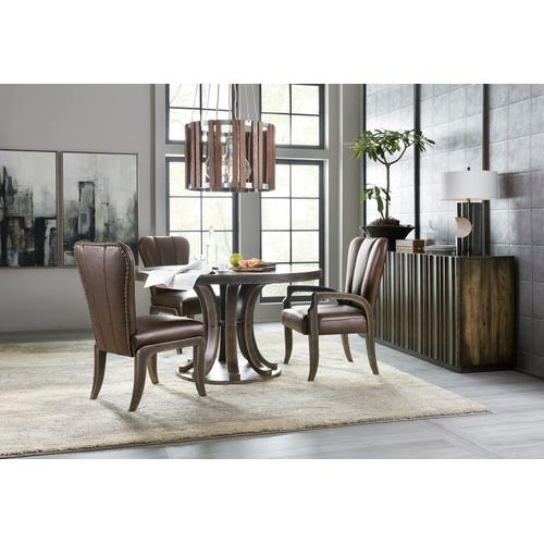 Dining Room Crafted Leather Arm Chair - 2 per carton/price ea