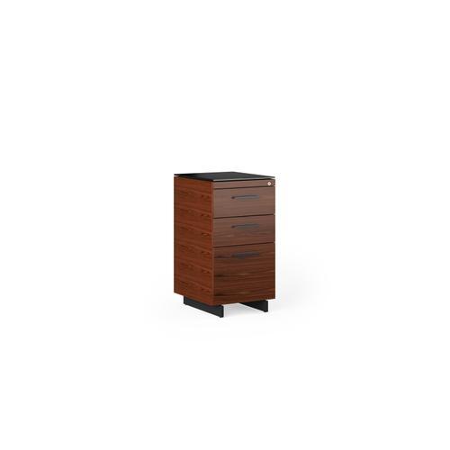 BDI Furniture - Sequel 20 6114 3 Drawer File Cabinet in Chocolate Walnut Black